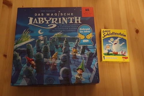 """Brettspiel """"Das magische Labyrinth"""" und Memo-Kartenspiel """"Schloss Schlotterstein"""""""