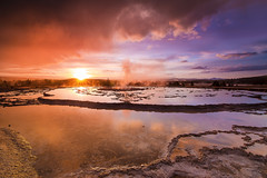 Rainy Sunset at Fountain Geyser
