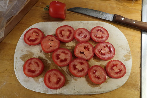 San-Marzano-Tomate (in Scheiben geschnitten)
