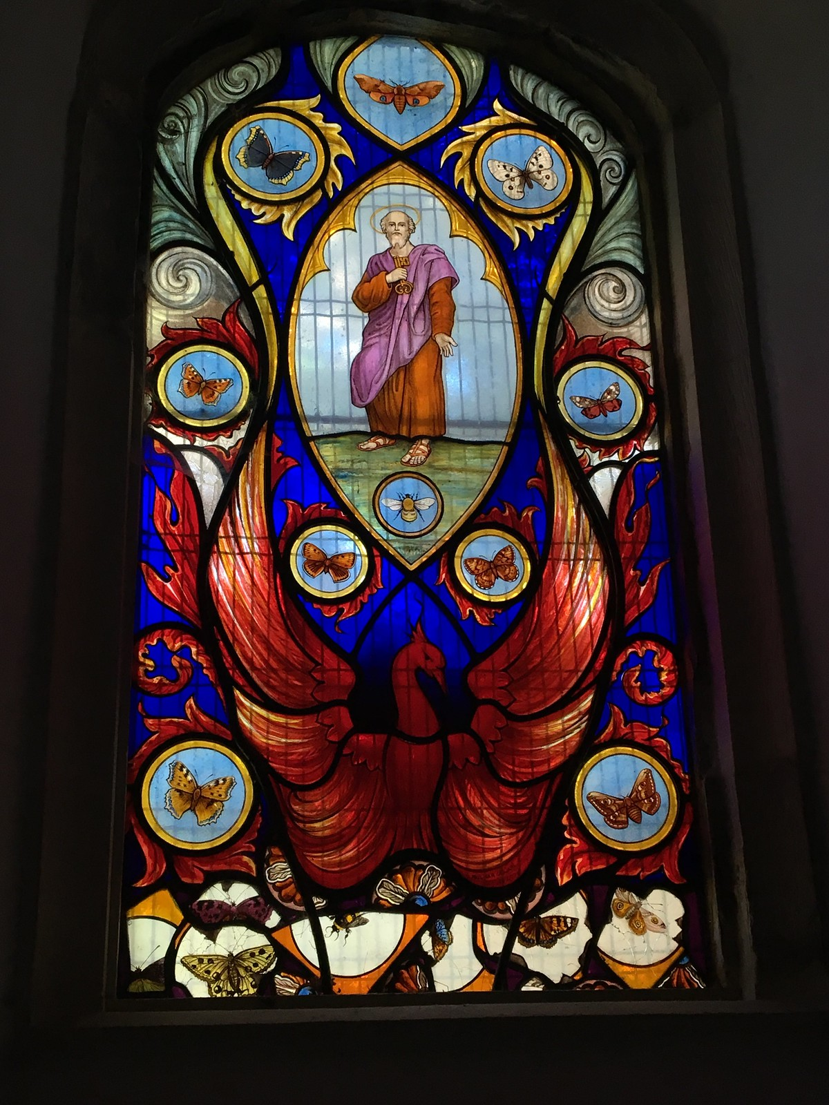 August 25, 2019: Berwick to Eastbourne Wilmington church's bee & butterfly window