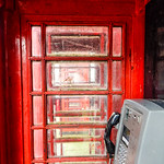 Inside RED Telephone Box