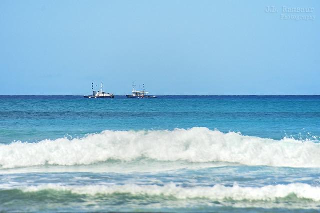 Fishing Trawlers - Waikiki Beach - Honolulu, Oahu, Hawaii