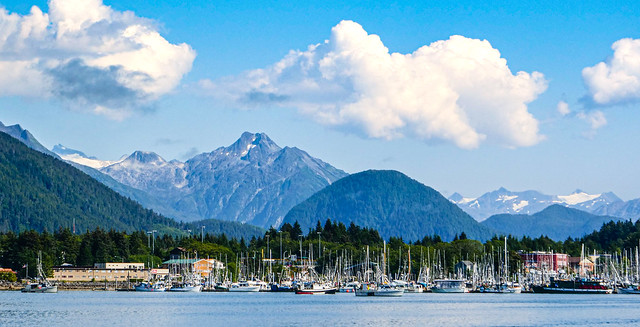 In the Distance - Sitka, Alaska, Mountains, and Clouds