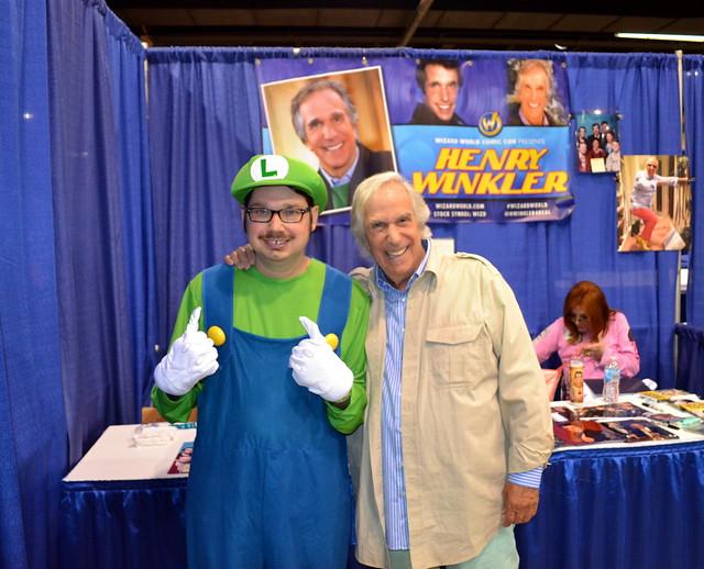 Luigi meeting Fonzie