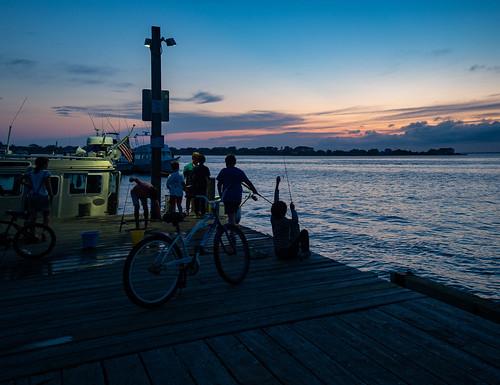 fairharbor ny fireisland fireislandny fairharborfireisland twilight latetwilight silhouette dock