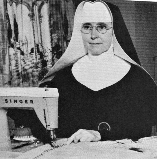 Sister Mary Dorothea, OSM teaching Clothing and Religion  at Marian High School in 1963 Omaha, NE