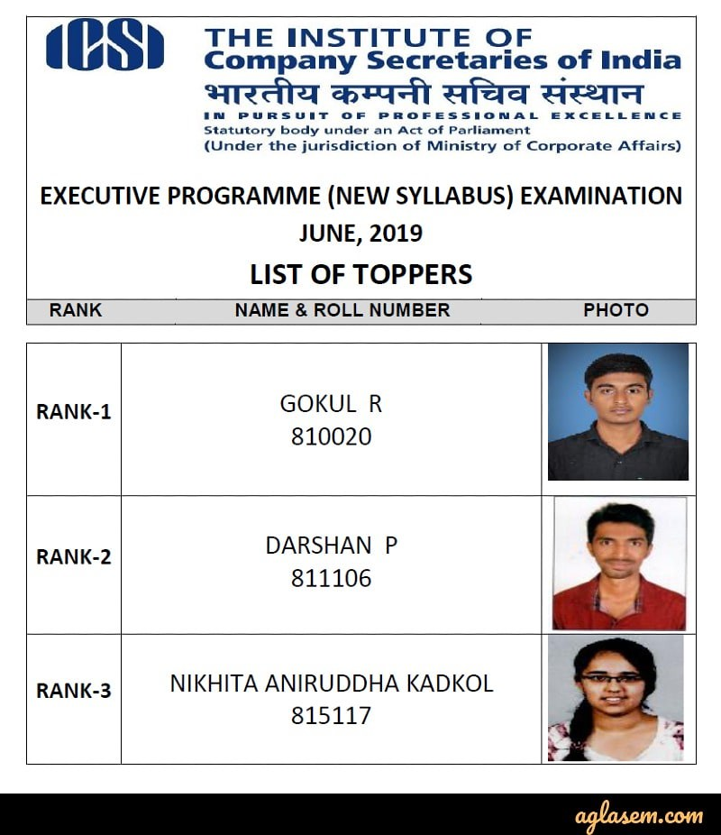 CS Executive 2019 Result (Declared) - Check Here for June
