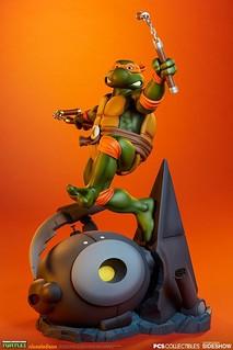 Pop Culture Shock《忍者龜》米開朗基羅 Michelangelo 1/4 比例全身雕像作品 普通版/EX版