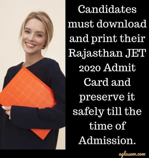 Rajasthan JET Admit Card 2020 Rajasthan JET Admit Card 2020 (Extended) - Download Here
