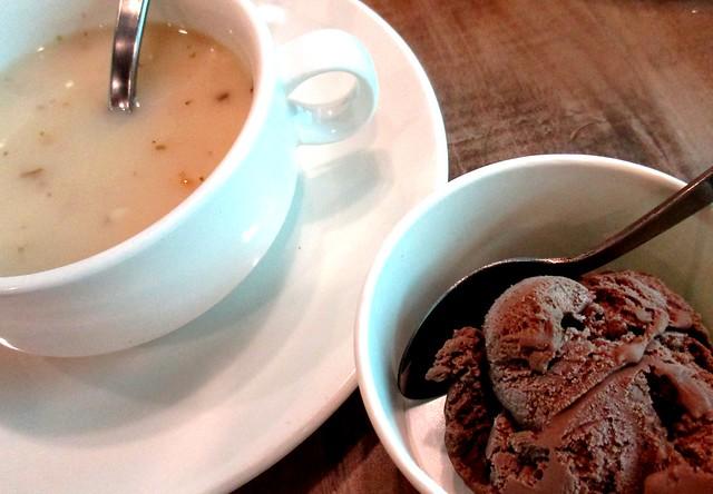 Soup & ice cream