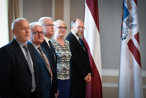Valsts prezidenta Egila Levita tikšanās ar Latvijas Brīvo arodbiedrību savienības vadību un dalīborganizāciju pārstāvjiem