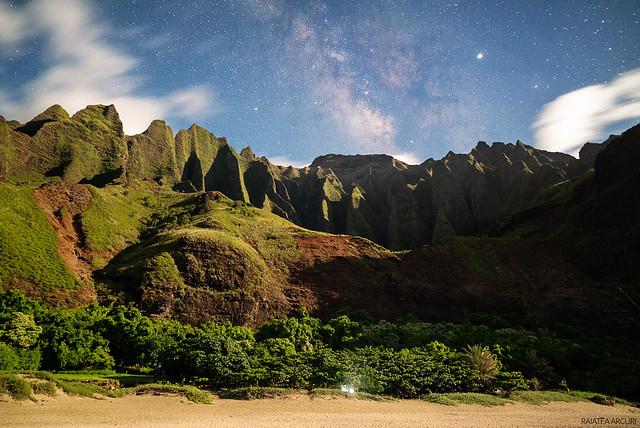 Milky Way Over Kalalau Beach
