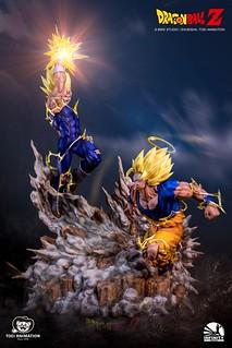 賭上賽亞人王子驕傲的激烈戰鬥! Infinity Studio Battle Series《七龍珠》超級賽亞人2 悟空 Vs 魔人達爾 SS2 Goku Vs Majin Vegeta 1/6 比例全身場景雕像公開!