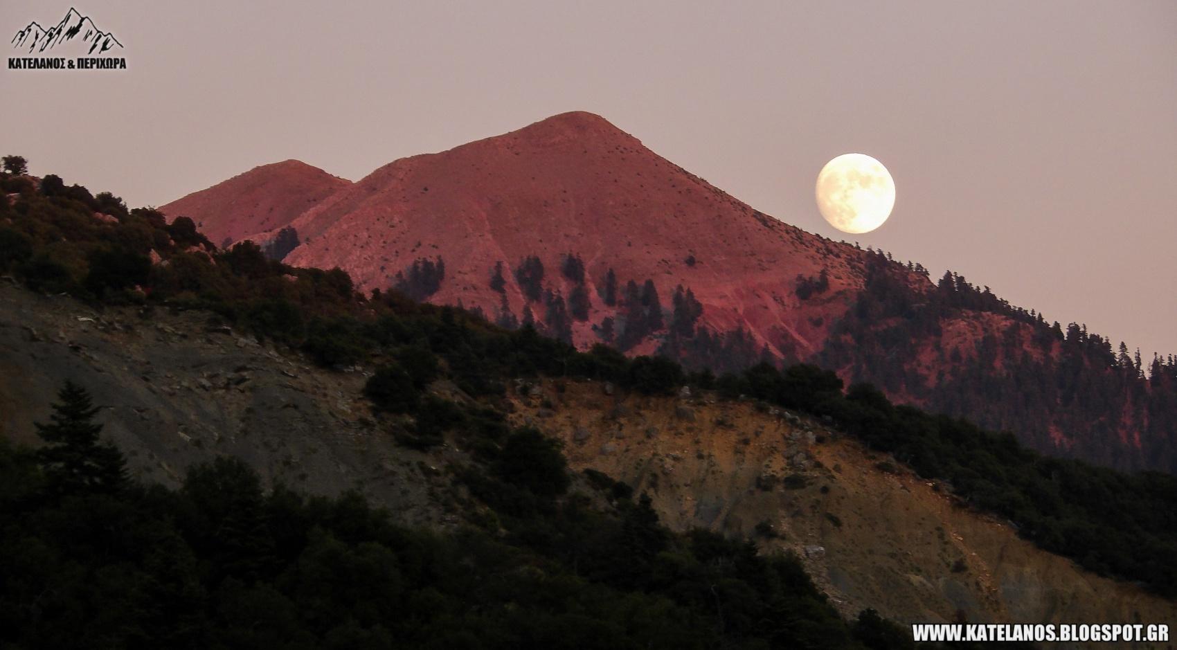 σεληνιακο τοπιο βουνοκορφη κεδρος παναιτωλικο ορος