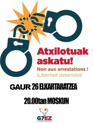 Concentración contra las detenciones en la Cumbre del G7