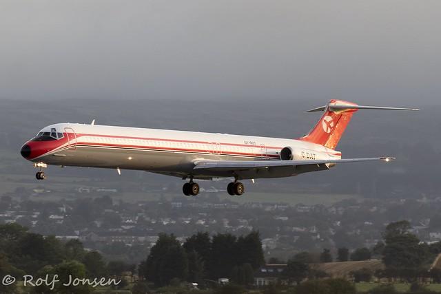 OY-RUT McDonnell Douglas MD-82 Danish Air Transport Glasgow airport EGPF 22.08-19