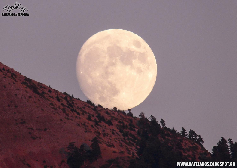 σεληνη φεγγαρι αυγουστου πανω απο βουνα