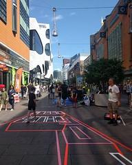 #TheStreetsOfChuckDeely #ChuckDeely #ChuckDeelyFestival #TapeArt #StreetArt #perspective