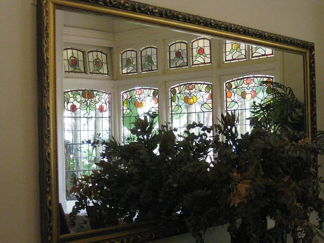 Reflected Beauty: the Art Nouveau Stained Glass Bay Window of the Dining Room of