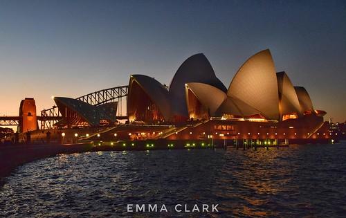 sydney sydneyharbourbridge sydneyoperahouse australia aus city cityscape landscape architecture buildings gold lighting nikonphotography nikon night nightonearth nightphotography lights