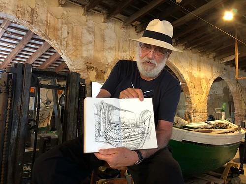 Joshema Larrañaga ha pintat uns magnífics  dibuixos sobre la Destil.leria.  https://www.facebook.com/joshemari.larranaga