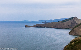 Lake Baikal from the top of the mountain