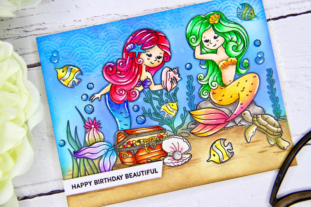 Mermaid card closeup5