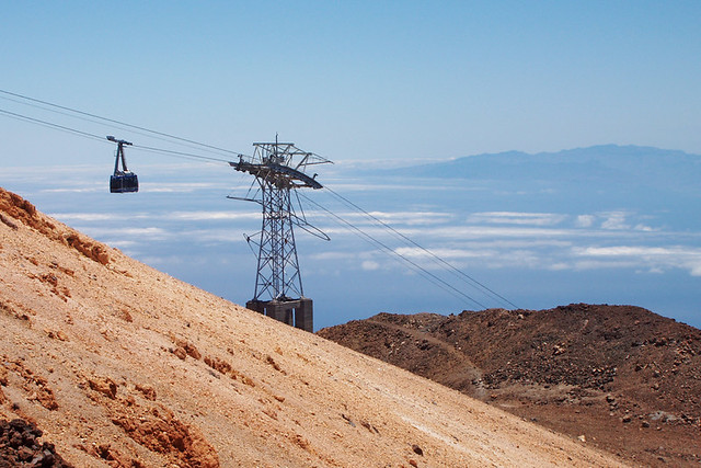 Cable car and Gran Canaria, Teide National Park, Tenerife