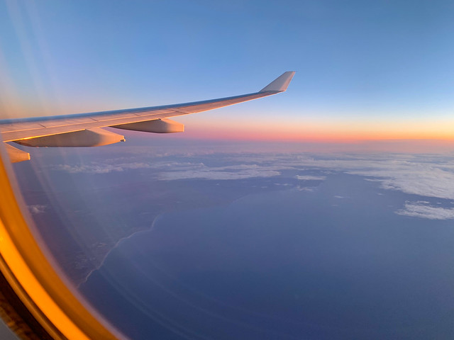 Sunset from above - over the Great Australian Bight