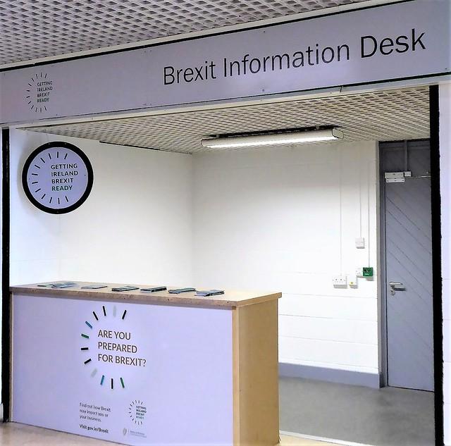 Information vacuum - Brexit desk, Rosslare Ferryport
