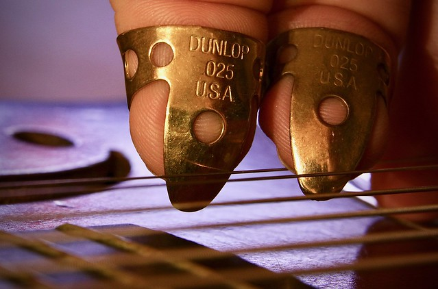 Macro Mondays - Goes together like fingers and picks, picks and strings, strings and wood.