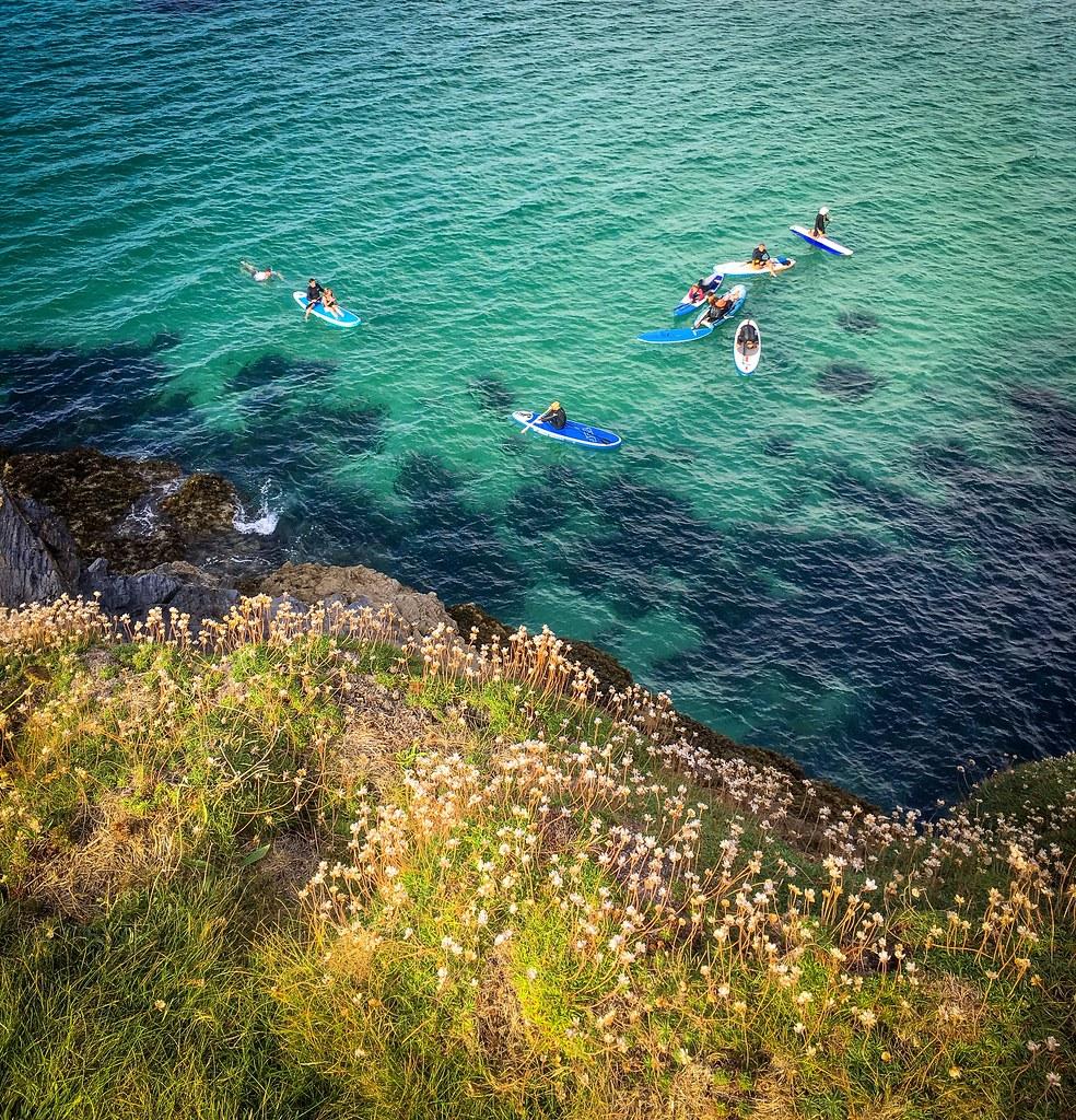Coast explorers near Harlyn