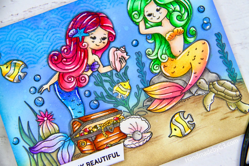 Mermaid card closeup4
