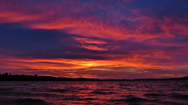Before sunrise and before the storm, Bear Lake, Michigan
