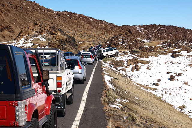 Nowhere to park, Teide National Park, Tenerife