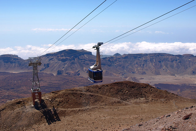 Cable car, Teide National Park, Tenerife