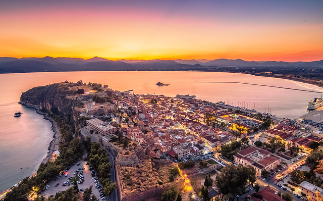 Nafplio at blue hour