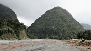 South Island, New Zealand - Waiho River & Highway 6 at Franz Josef