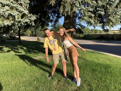 First day of school! Jack: 9th, Abbie: 11th