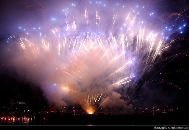 Fireworks, Museumsuferfest, Frankfurt, Germany