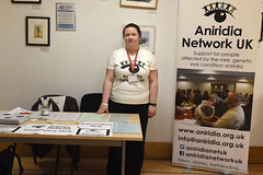 Katie at Aniridia Network stall