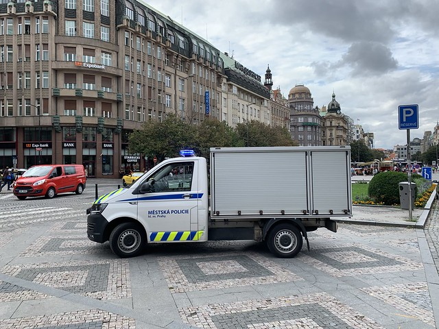 Police Vehicle - Wenceslas Square - Praha / Prague - Czech Republic