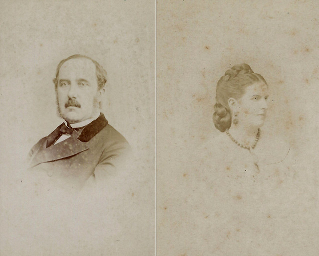 Lt. Gen. Sir William Russell, 2nd Baronet of Charlton Park, and Lady Margaret Russell (CDV by Ghemar Freres, 27 Rue de l'Ecuyer, Bruxelles)