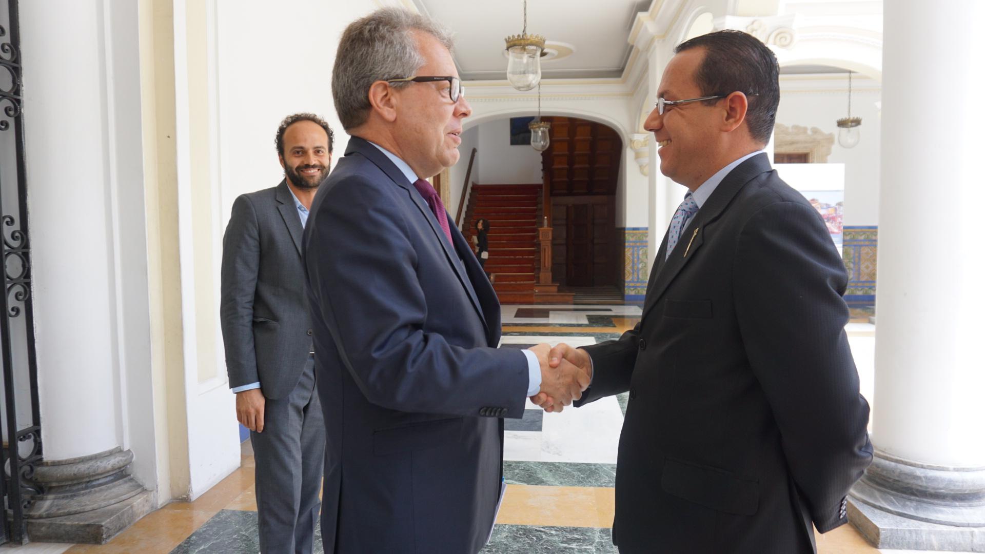 Reunión entre el Viceministro Yánez y representantes de la ONU en Venezuela para dar seguimiento a los planes de cooperación