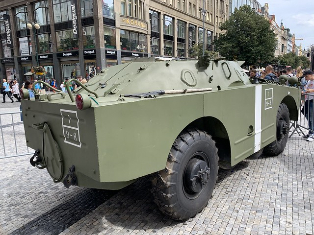 Vintage Military Vehicle - Wenceslas Square - Praha / Prague - Czech Republic