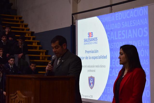 Premiación Alumnos TP inicio Semana Técnico Profesional 2019.