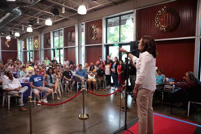 Kamala Harris with attendees