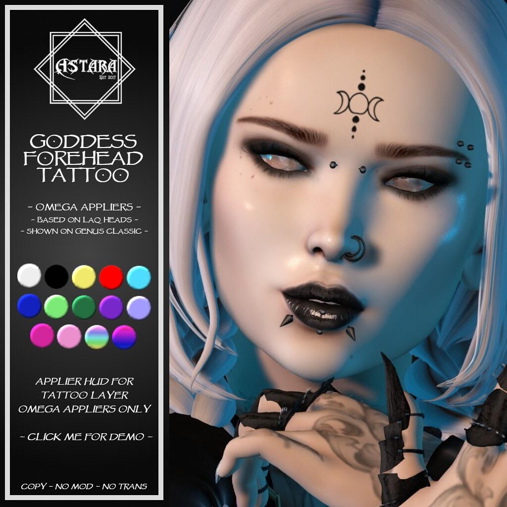 Astara - Godess Forehead Tattoo - TeleportHub.com Live!