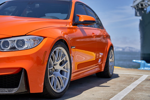 "BMW F80 M3 with 18"" EC-7R Forged Wheels in Brushed Clear 