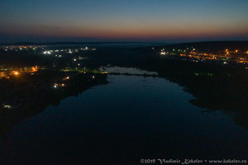 Чуна. Мурашовское озеро поздним вечером